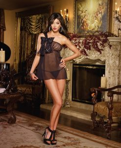 Babydoll sin hombros Montblanc