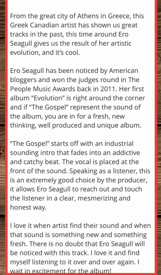 Reviews and Interviews – Ero seagull
