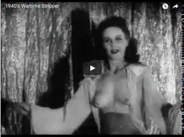 Wartime Stripper from 1940s