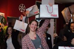Da freut sich die Crew - Zur Premiere des Films in Berlin gab es die erotischen Ueberraschungen von ORION