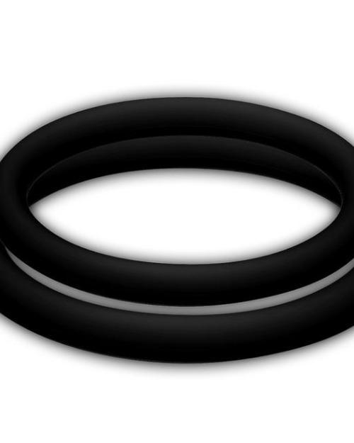 Joydivision POTENZduo M Erekčný krúžok 2 ks - čierny