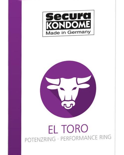 Secura kondómy El Toro s erekčným krúžkom 12 ks