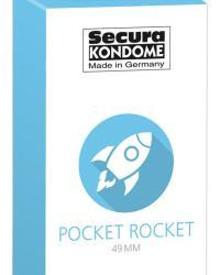 Secura kondómy Pocket Rocket 49 mm 24 ks