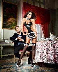 Baci Erotický kostým Francúzska chyžná II. One Size