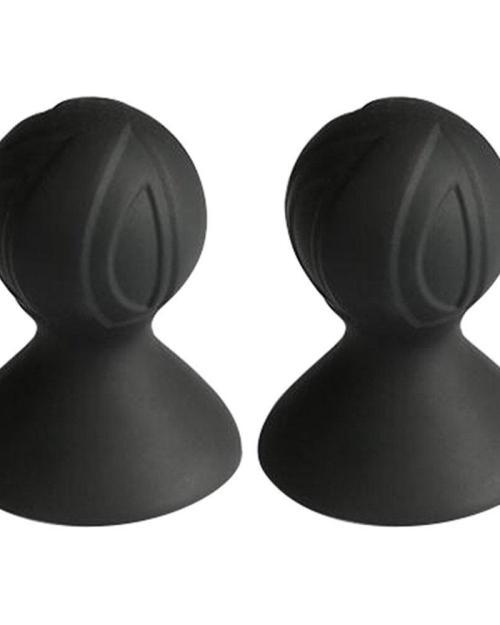 BASIC X Prísavky na bradavky 2 ks - čierne
