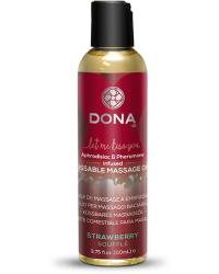 DONA MASÁŽNY OLEJ JAHODOVÉ SOUFFLE - zbozkateľný masážny olej s vôňou jahody