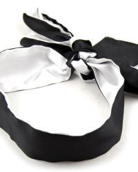 BASIC X Saténový šál na oči biela