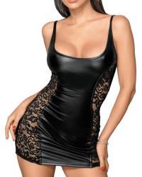 Noir Dress Minišaty s čipkou čierne: M