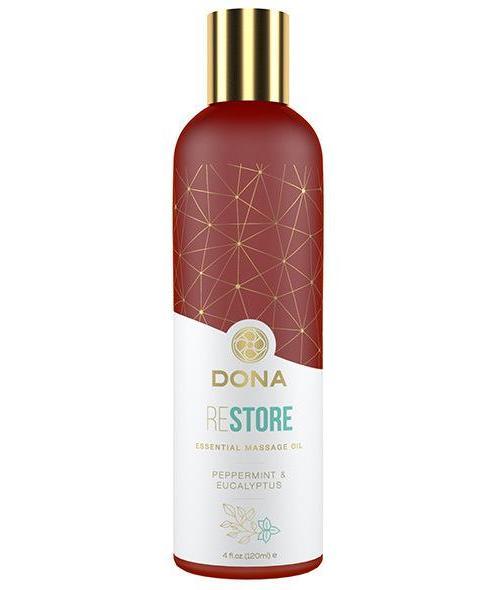 DONA Esenciálny masážny olej Mäta a eukalyptus 120 ml