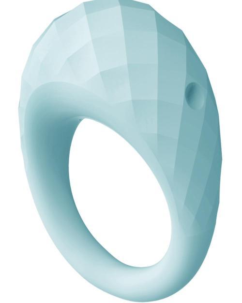 Aquatic Zelie vibračný erekčný krúžok modrý