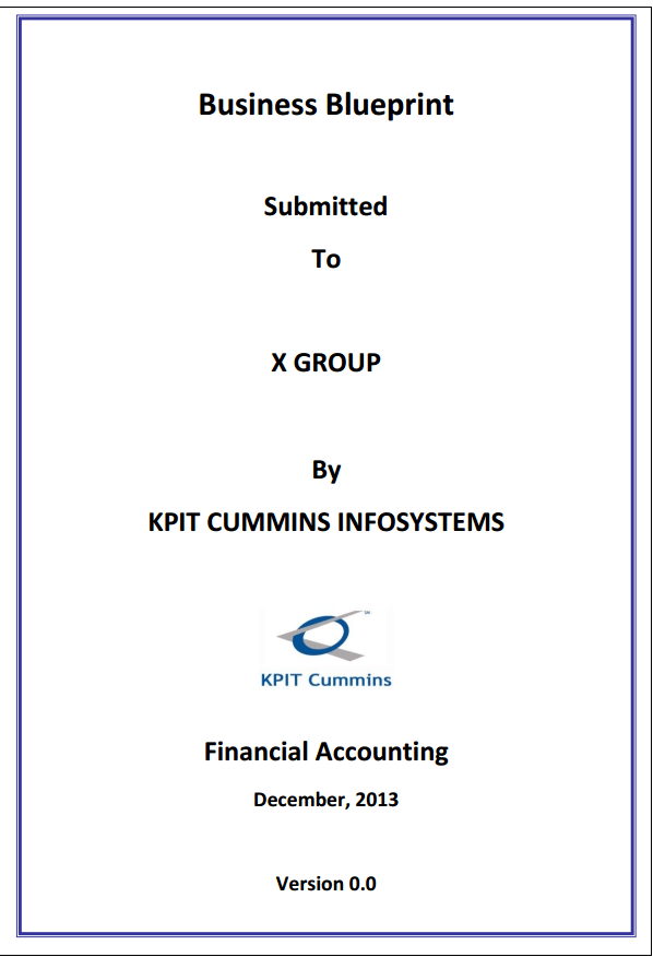 SAP FICO Business Blueprint Sample - ERP DOCUMENTS