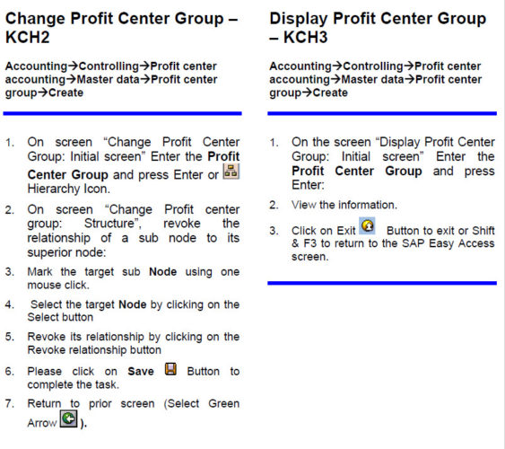 Change Profit Center & Display
