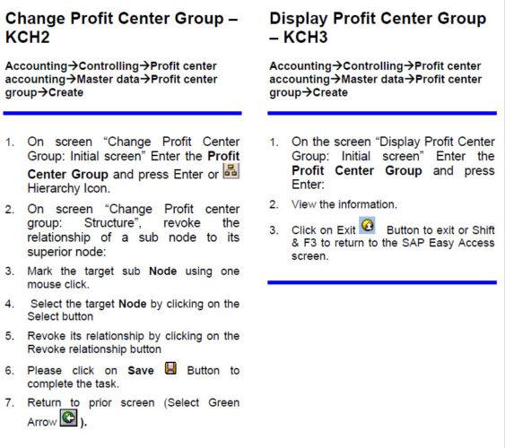 Change Profit Center & Display