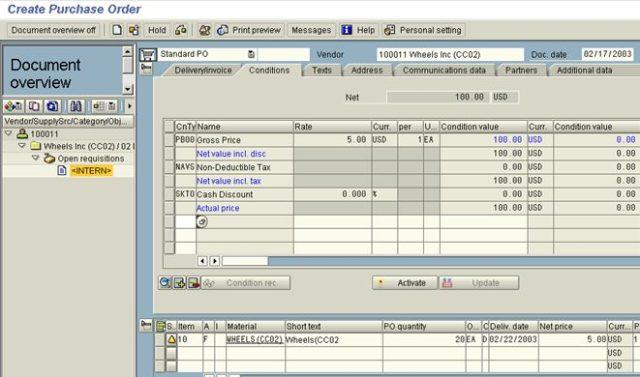 Internal Orders (Work Orders)