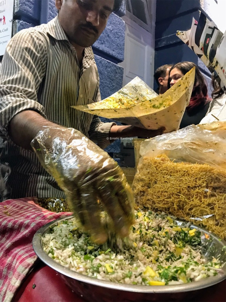 Oli bhel at MG Road