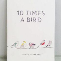 cartoline 10 birds - 10 uccelli illustrati - R nel bosco
