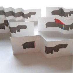 Le petit chien extensible - cani di carta - bau - R nel bosco