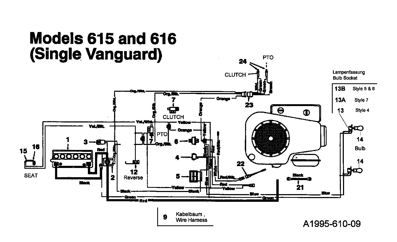 Mtd 16 107 Schaltplan Vanguard 135t615g678