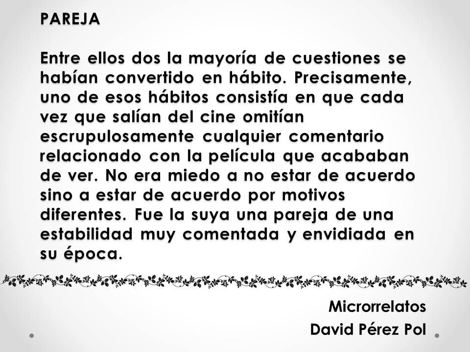Pareja, microrrelato de David Pérez Pol