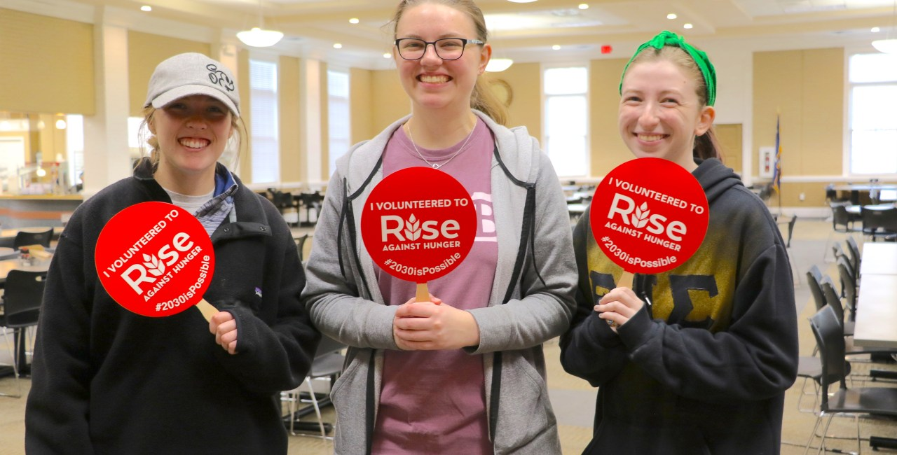 Instead Of Sleeping In, Students 'Rise Against Hunger'