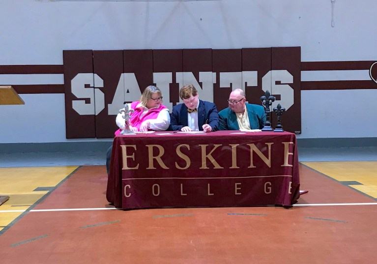 Gabriel Collier with parents