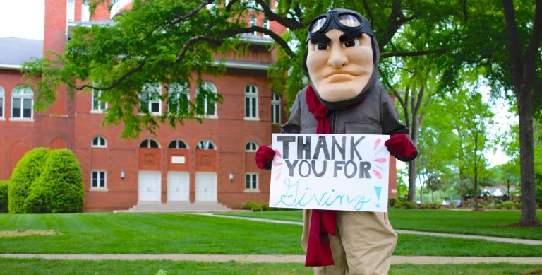 Ace Day of Giving thank-you sign CROP