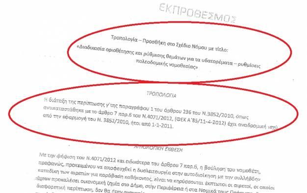 (Ν)Τροπολογία αμνηστίας για καταδικασμένους δημάρχους