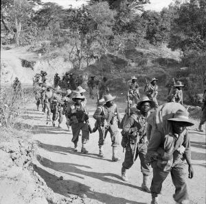 The cream of the Ethiopian Imperial Army on the march during the Bengal Campaign. The Battle of Jessore would be the bloodiest of the war, and continues to haunt Ethiopia's national memory.