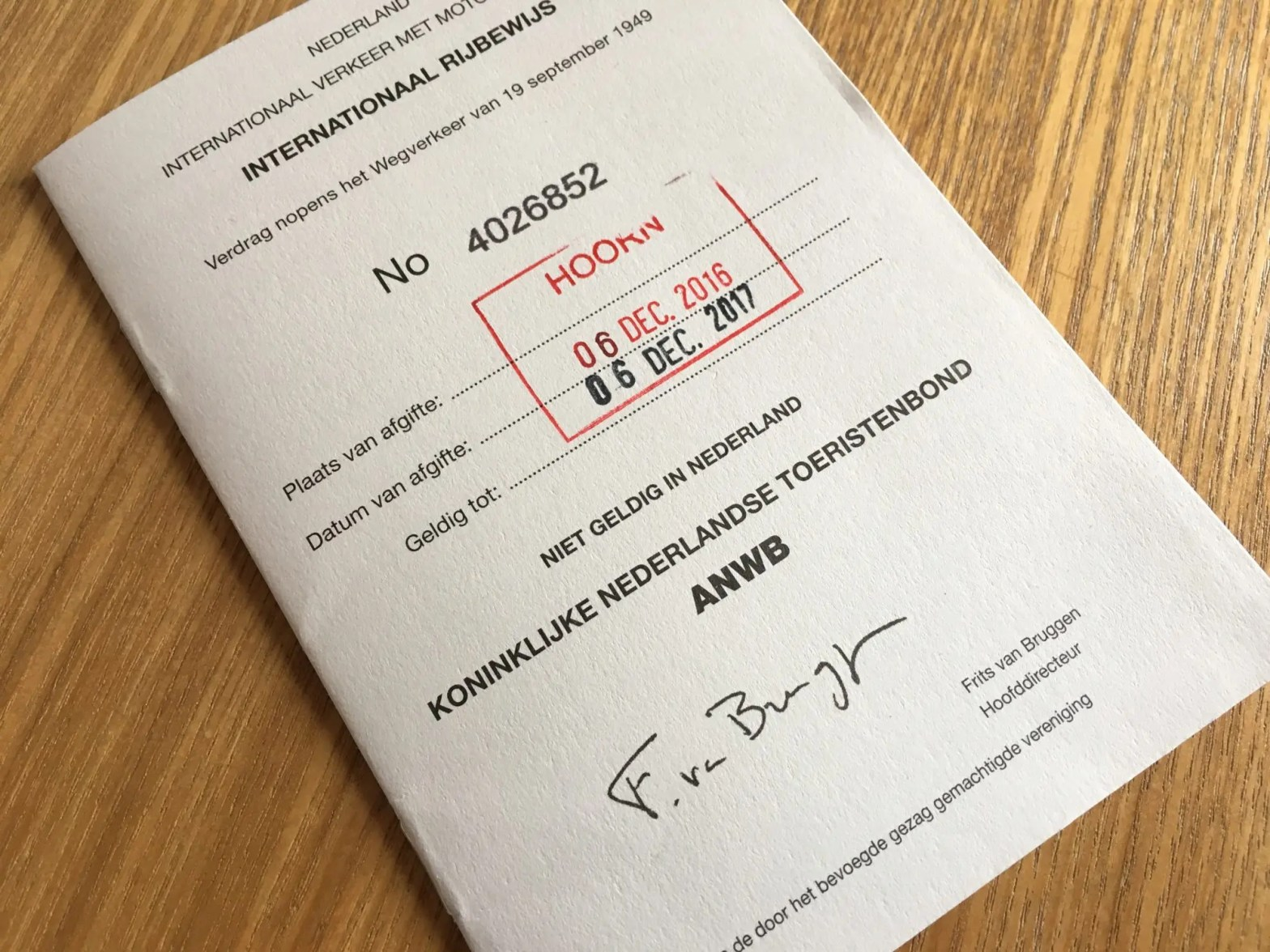 Internationaal rijbewijs, autorijden in Japan
