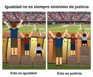 igualdad no es sinonimo de justicia