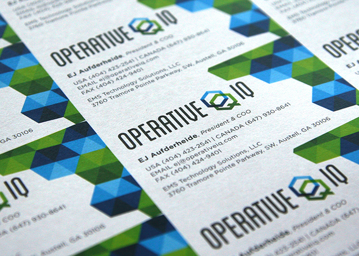 Operative iq business cards for the team colourmoves