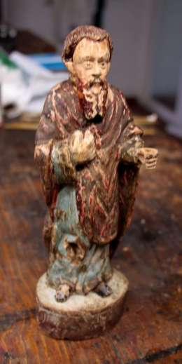 Statue Saint Spanish Colonies South America restoration