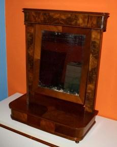 Walnut dresser mirror restoration