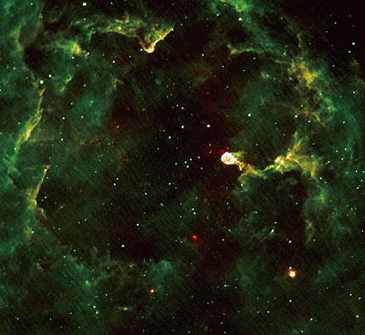 AKARI's mid-infrared image of reflection nebula IC 1396