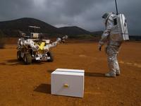 Eurobot giving a hand to astronaut