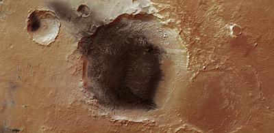 Cinzas vulcânicas no Meridiani Planum (www.esa.int)
