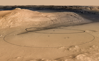 Nasa Curiosity landing target uses on Mars Express HRSC data