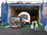 Descarga en el puerto de Kourou