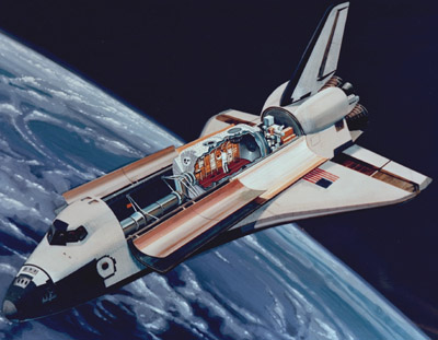 Spacelab in orbit