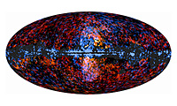 Haze Galáctica visto por 'burbujas' Planck y Galáctica visto por Ferm