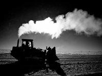 Concordia bulldozer clearing runway