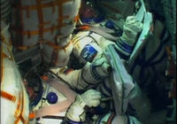 TV image from the Soyuz TMA-03M spacecraft
