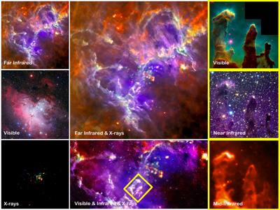 Las imágenes individuales que conforman el final de la nueva vista impresionante