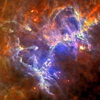 Herschel del infrarrojo lejano punto de vista