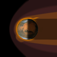 Artist's impression of Mars' magnetosphere