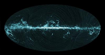 De todo el cielo la imagen de gas molecular visto por Planck