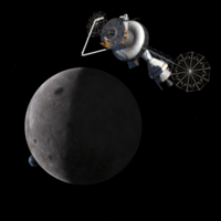 Gateway station on lunar farside