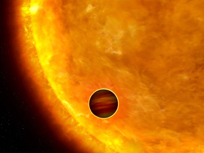 Artist's impression of an exosolar planet