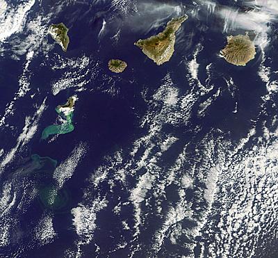 Volcán submarino, islas Canarias
