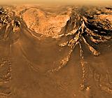 Animación de un aterrizaje a Titán
